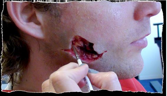 Casualty Prosthetic Makeup by Jennifer Nash