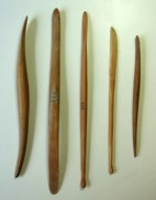 Various wooden sculpting tools