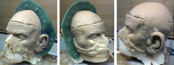 Silicone head in mould