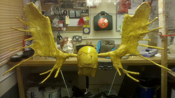 Shellaced antlers armature