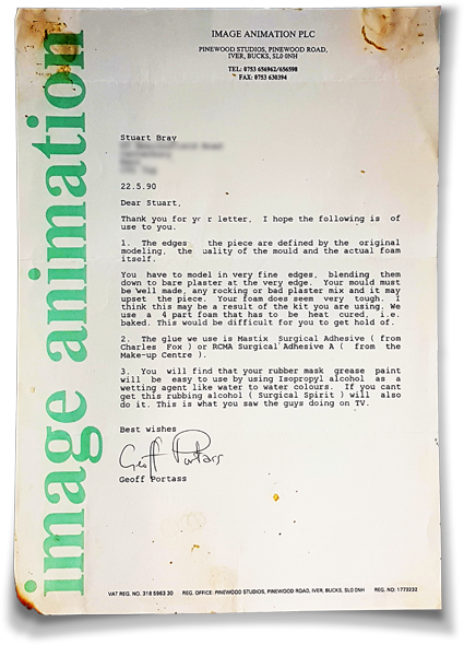 Letter from IA 1990